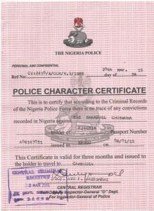 nigeria police clearance